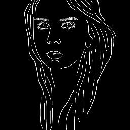 freetoedit woman b&w picsart_tools draw