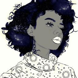curlyhairdontcare editedbyme madewithpicsart dailyedit coloring galaxy curlyhair