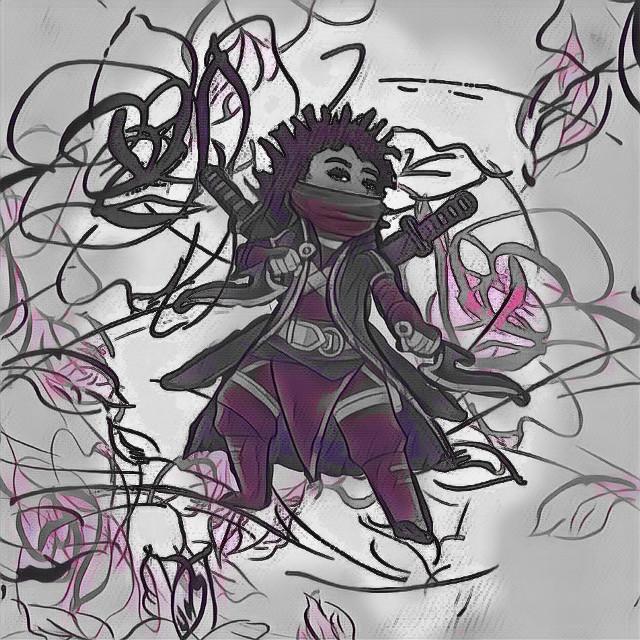 #dailyremix #ninjastickers #soulmagiceffect #watercoloreffect #curlybeautyremix