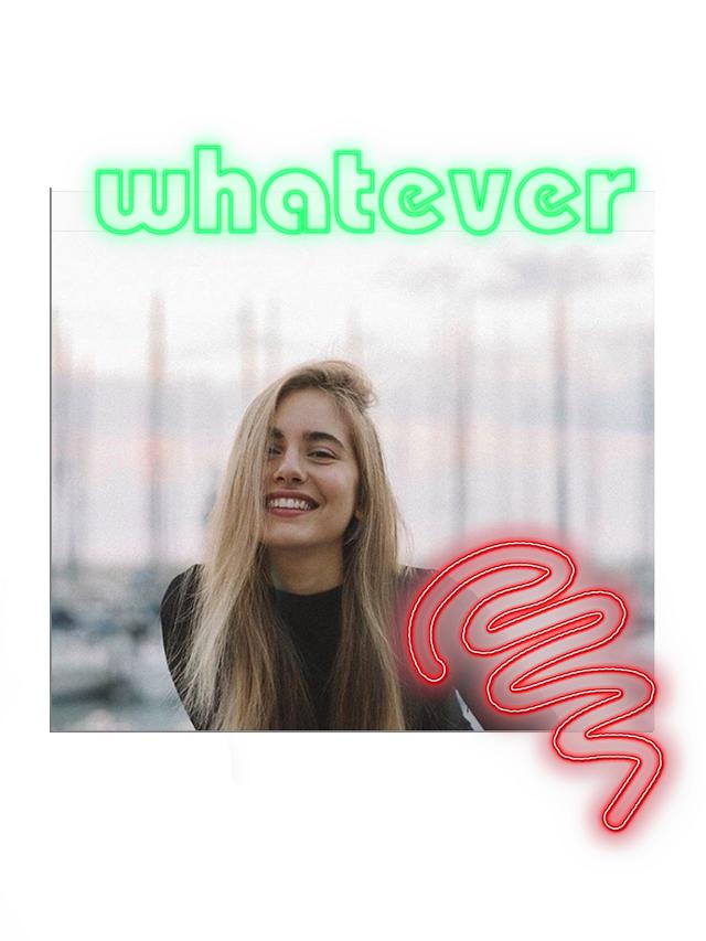 #whatever #polaroid #neon #neonsaying #girl #style #urban #fashion #streetstyle #art #design