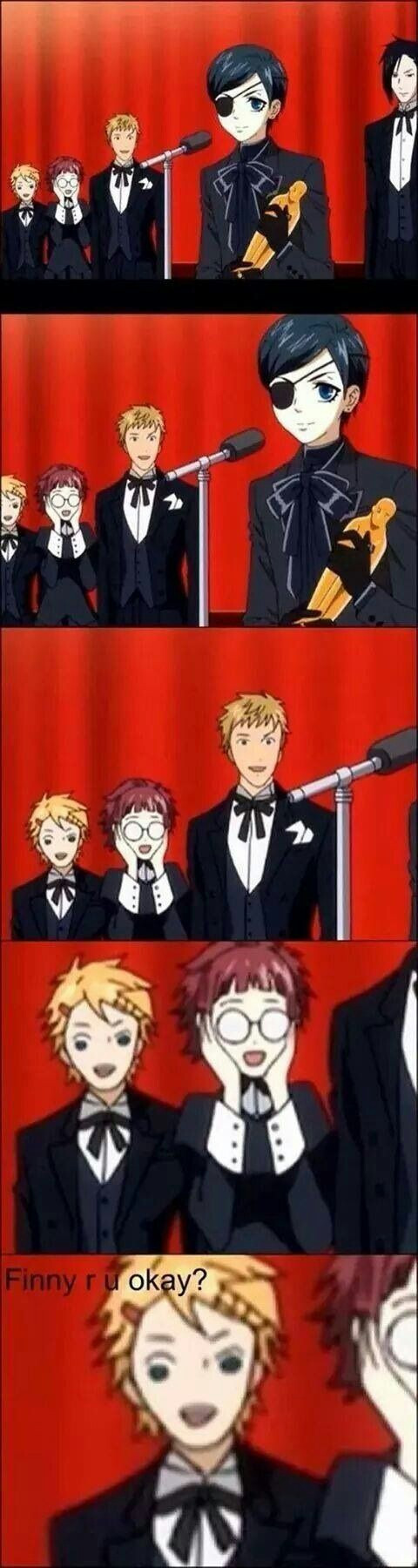#Funny #BlackButler #Finny #Finnian #Meyrin #Bart #Sebastian #Michaelis #Ciel #Phantomhive #Anime #Kuroshitsuji