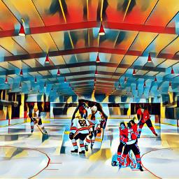 icerink freetoedit icehockey picsart