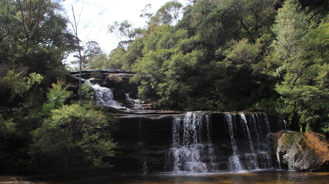 #pclandscape #landscape #bluemountains #australia #waterfall #nature #green #travel