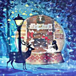 freetoedit fireplace winterscape snowglobe snowmasks