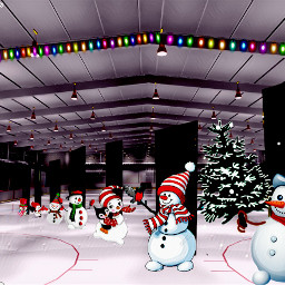 freetoedit icerink snowmen christmastime whiteicemagiceffect