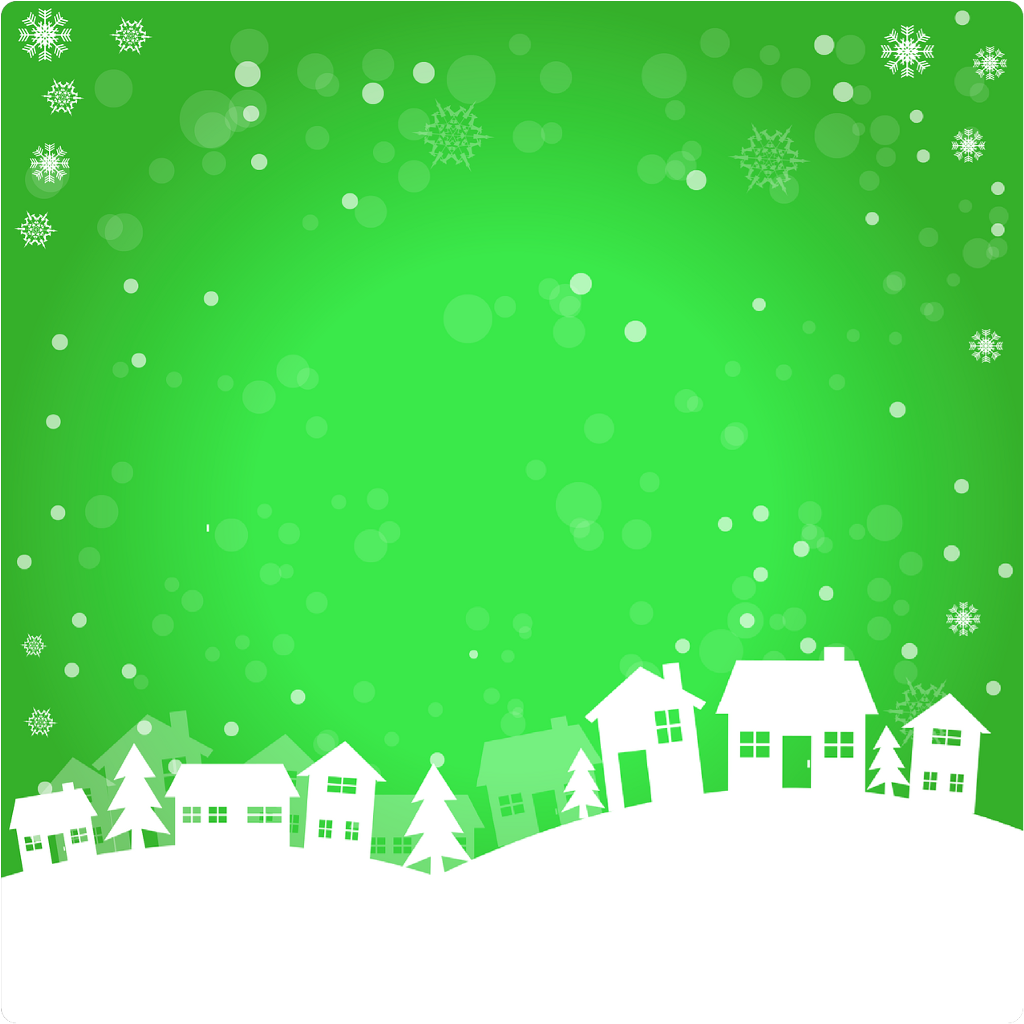 #ftestickers #background #green #winter #snow #house #houses