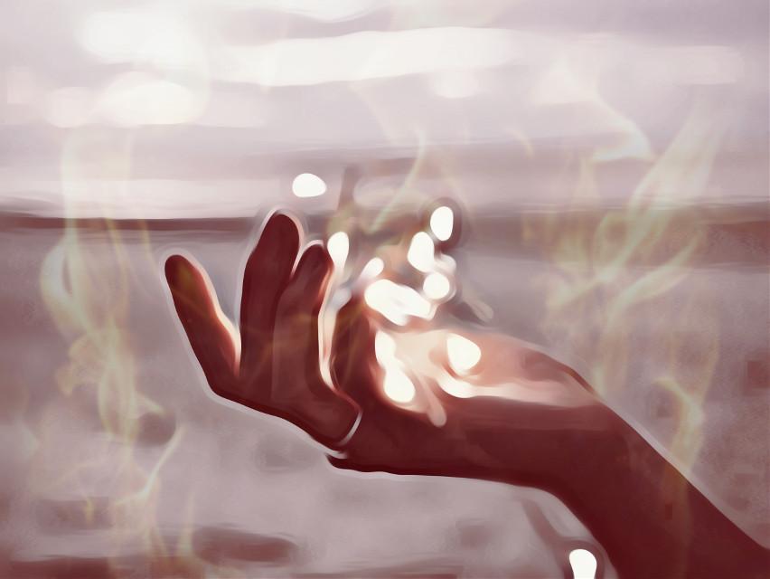 Warmth #fire #hand #hands #hot #warm #light