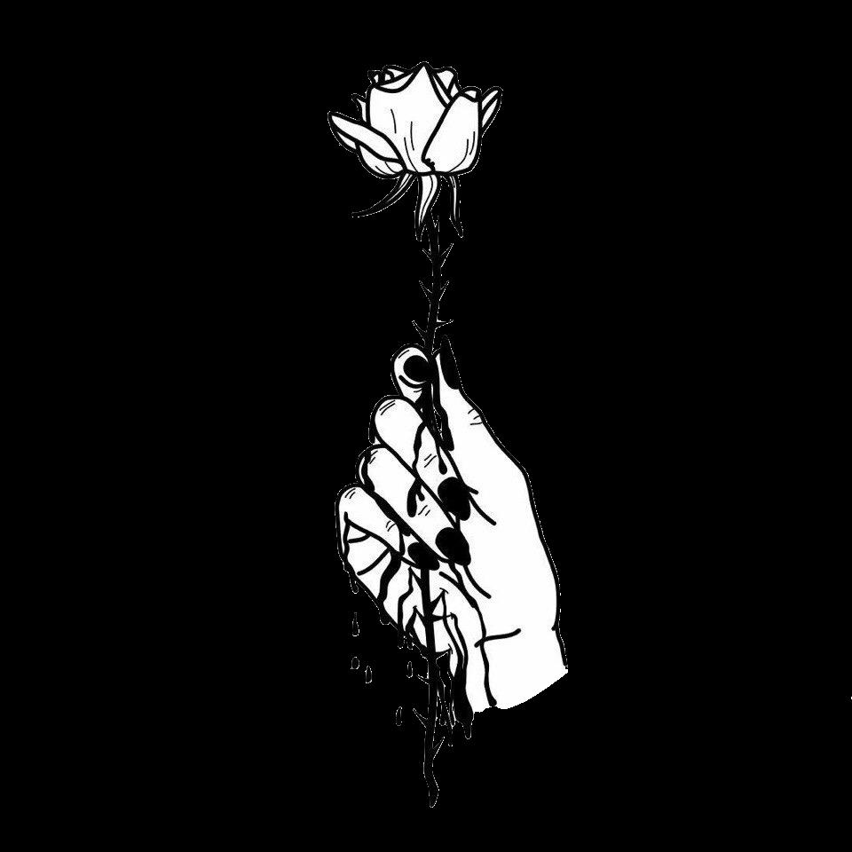 Tumblr Arm Arms Rose Roses Flower Flowers Blackandwhite