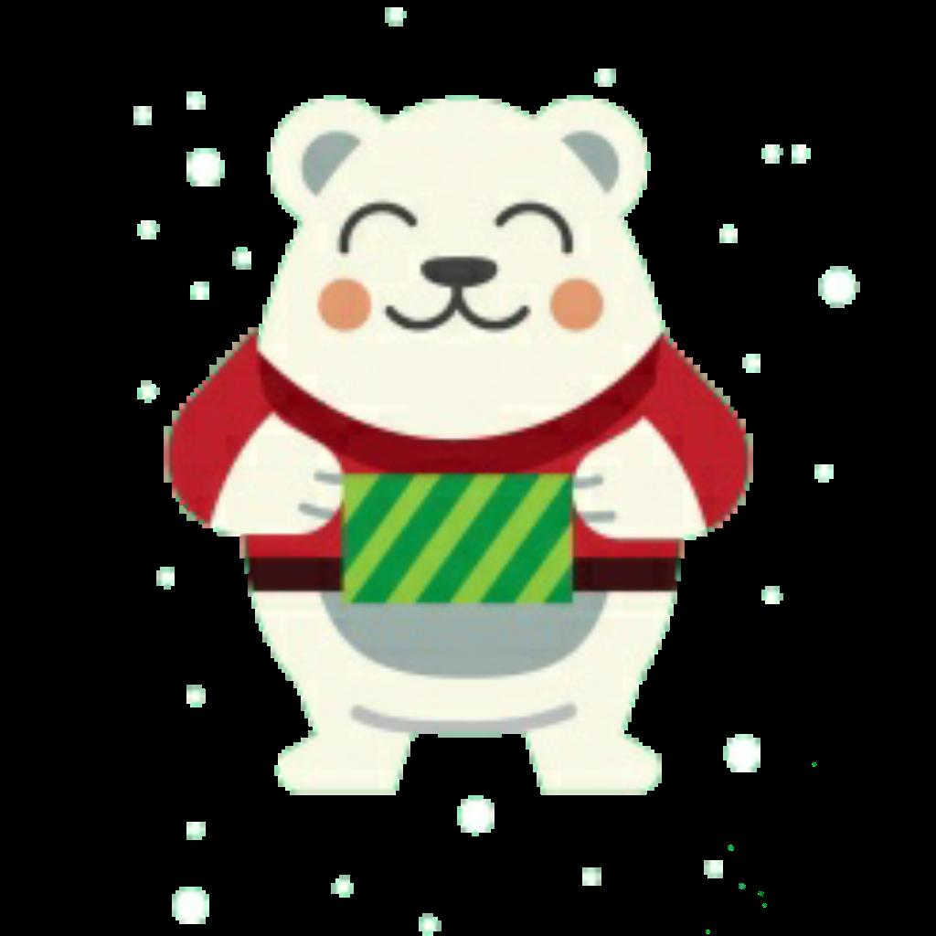 #love#vintage#emotions#winter#christmas#merrychristmas#happynewyear#bear#white #travel#green#red#sticker