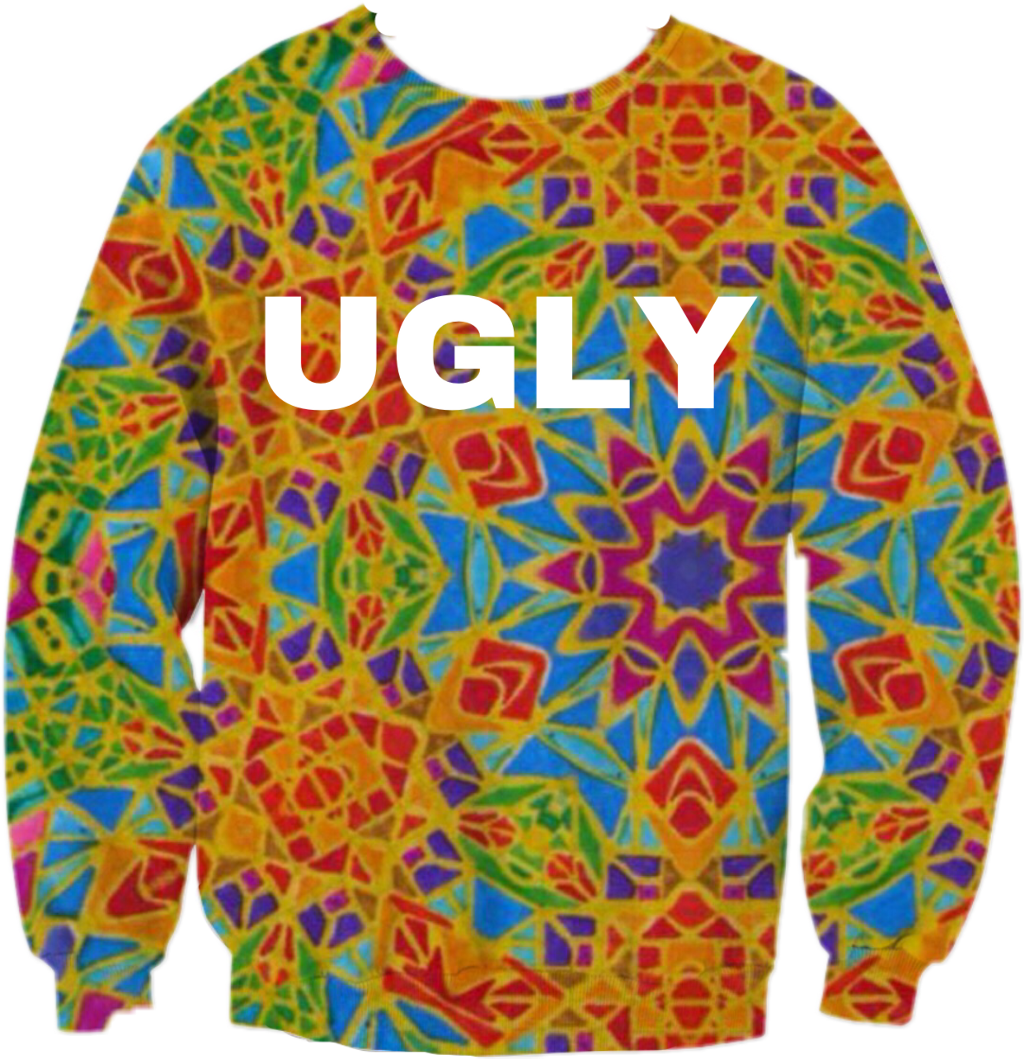#sweater #freetoedit #ugly #colors #vintage #mosaic #mandala #caleidoscope #fashion #clothes