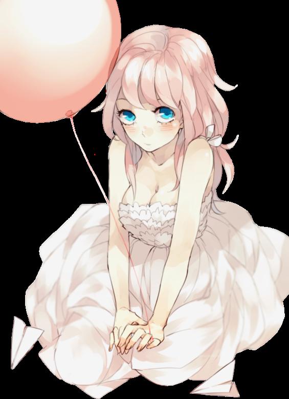 #girl #balloon #pink
