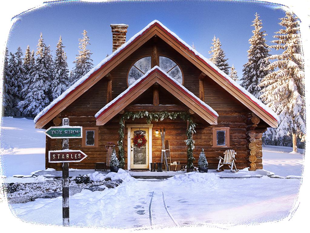 #christmas #xmas #winter #tree #santa #snowflake  #house #home #scene #winterwonderland #ftestickers