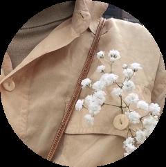 coat flower white brown neck freetoedit