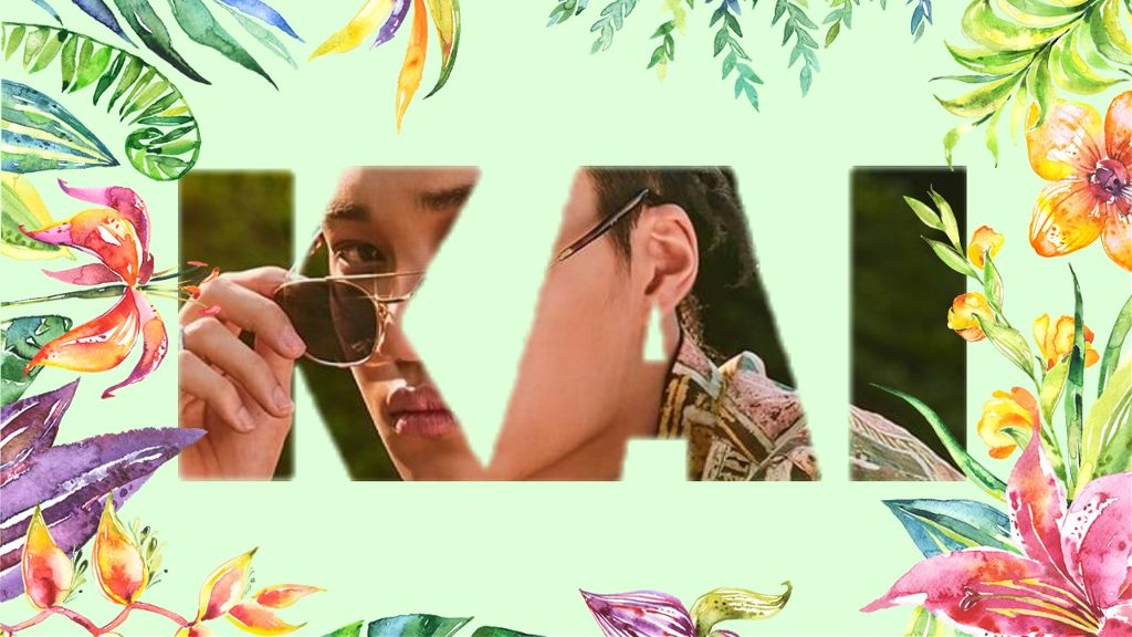 Exo Kai Kim Jongin Wallpaper Tropical Green Kokobop