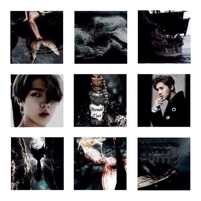 Hunhan Hanhun Sehun Luhan Selu Exo Aesthetic Dark Colla