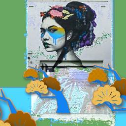 findac geisha remix glitch picsart