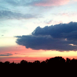 pcsunrise colorfully overtreetops suncolorful watchtheprettysky freetoedit