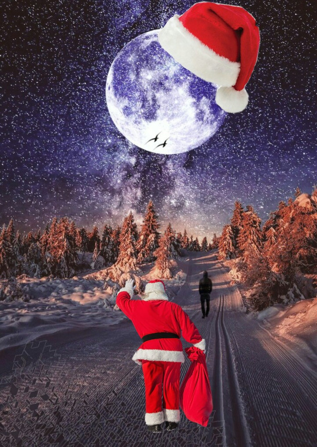 #santaclaus #moon #christmas #l4l