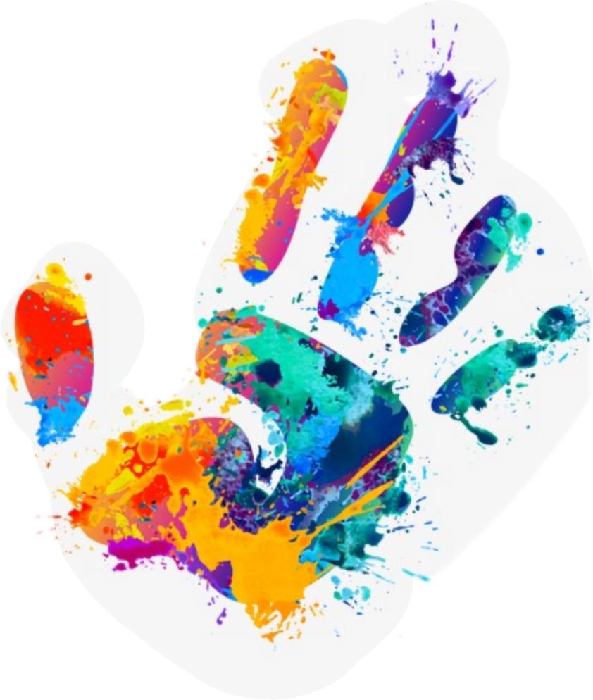 handprint paint graffiti sticker by janet