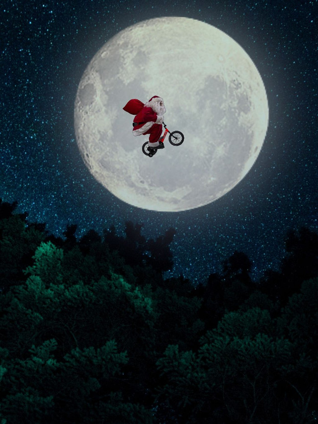 There's no better way to get in the Christmas spirit than with Santa flying on the moon! This shoutout goes to fabulous artist @danial8986 for Remixing the image by @freetoedit . Feel free to add your creative touch or share your holiday inspired image with the PicsArt community! #Christmas #Holiday #Santa #SantaClaus #Moon #Nature #Remix #FreeToEdit