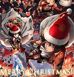 snk christmas anime mikasa levi