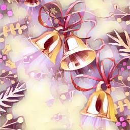 rosequartzmagiceffect christmasbackgrounds bellsstickerremix music christmas freetoedit