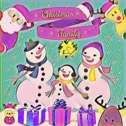 freetoedit snowman snowmanfamily ecsnowmanfamily