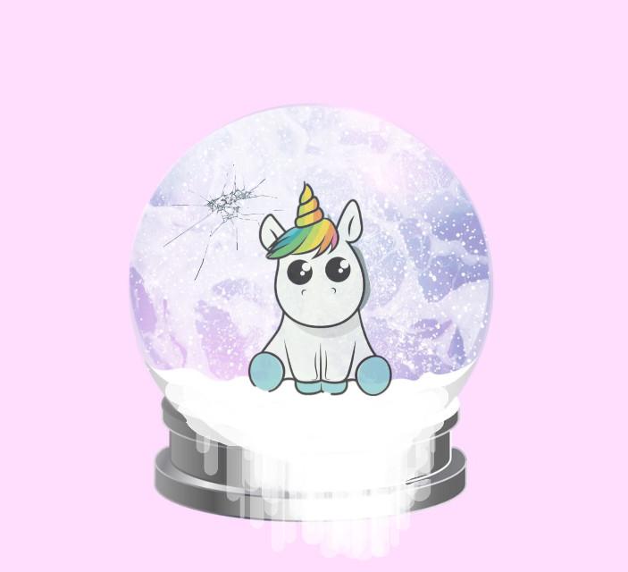 #freetoedit #snowglobe #Oops #unicorn