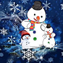 ecsnowmanfamily snowmanfamily freetoedit snow snowman