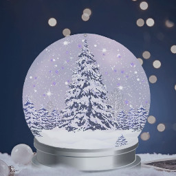 globe snow christmas tree christmasdecoration freetoedit
