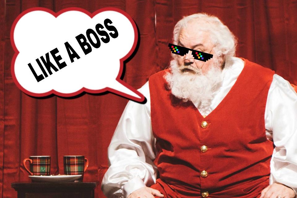 #santaclause #likeaboss #shades