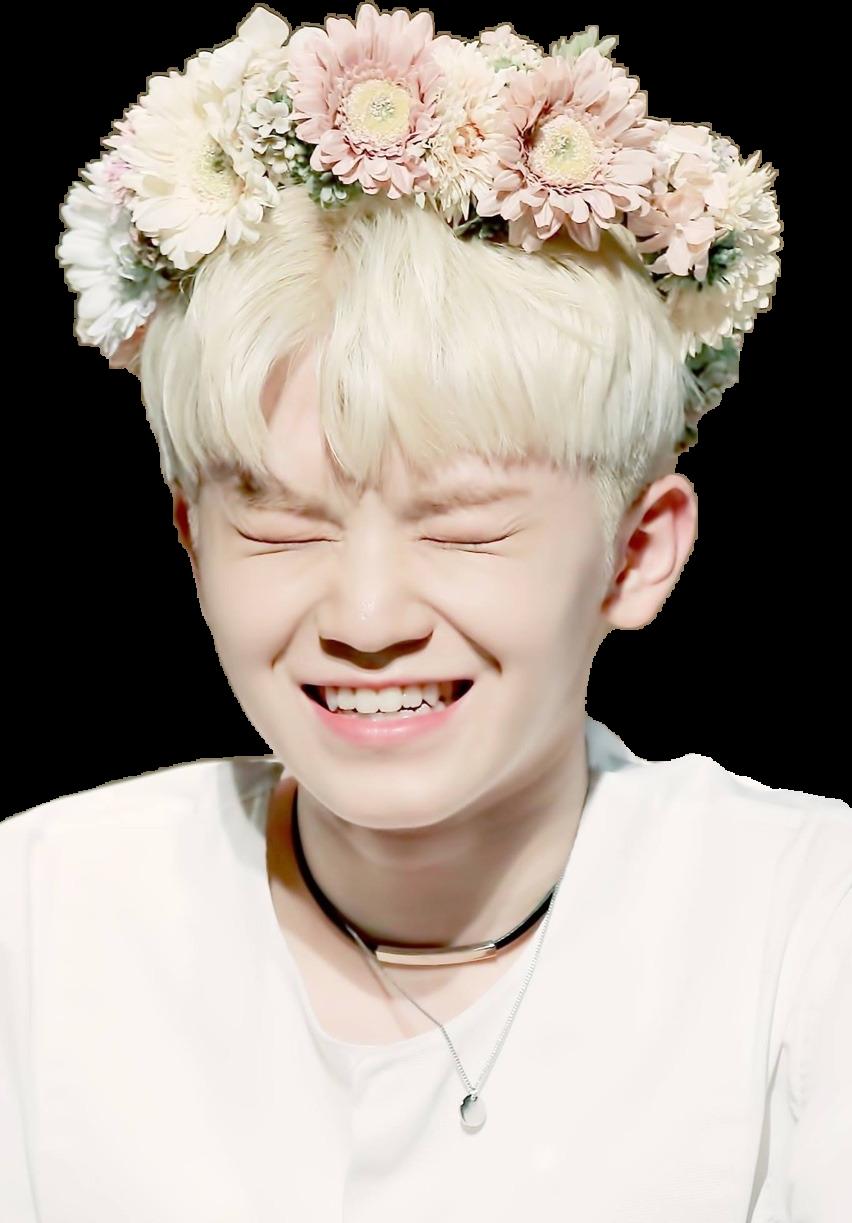 Woozi Kpop Cute Flowers Flowercrown Seventeen Seventeen