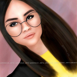 sofia selena art glassesgirl yellow wdpfashion freetoedit