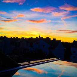 sunset mirorr sun clouds photography