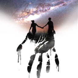 icyx hands holdinghands couple galaxy