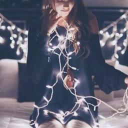 freetoedit christmaslights christamasgirl light tumblr