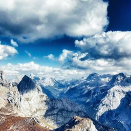 pcmountains mountains nature clouds bavaria pchorizon