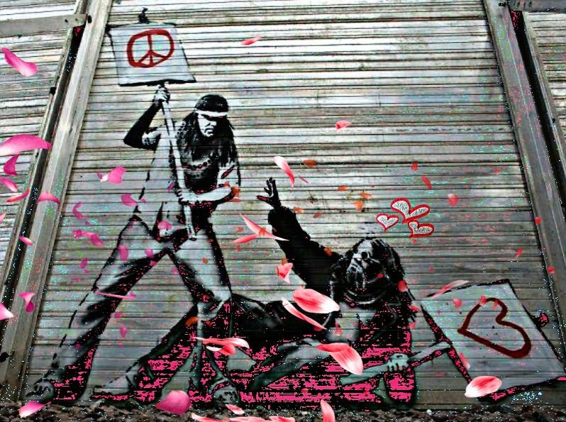 #banksy #graffititiart#rework