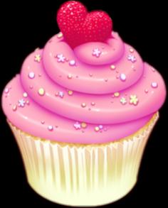 freetoedit pink strawberry cupcake remixit