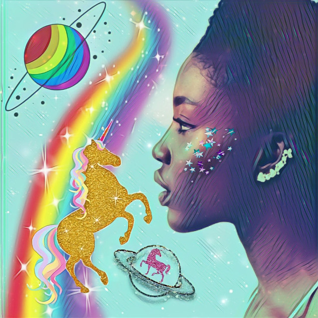 #rainbowmagiceffect #rainbow #unicorn #stars #planets #girl #colorful #dreamy