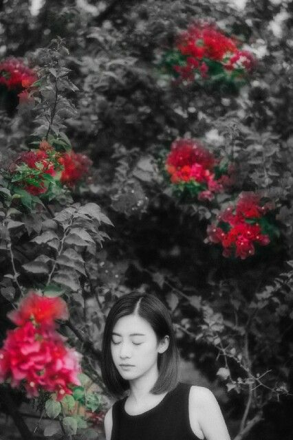 #árvore #tree #flowers #flores #mulher #woman