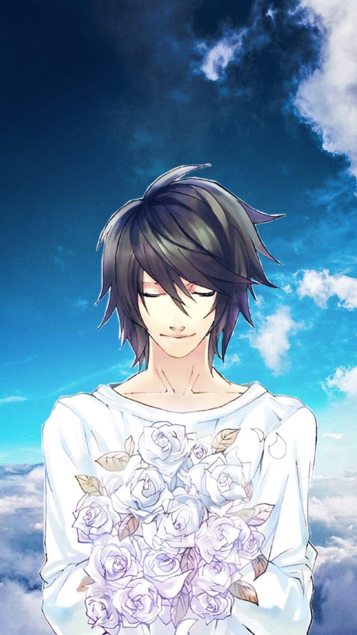Deathnote L Llawliet Lawliet Sky Angel Anime Animeboy