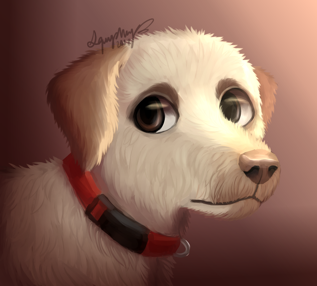 my parents wanted me to draw our dog Ben, so here he is  acc he's a labradoodle but i was too lazy to make the hair super curly  hh i dont really like this ://