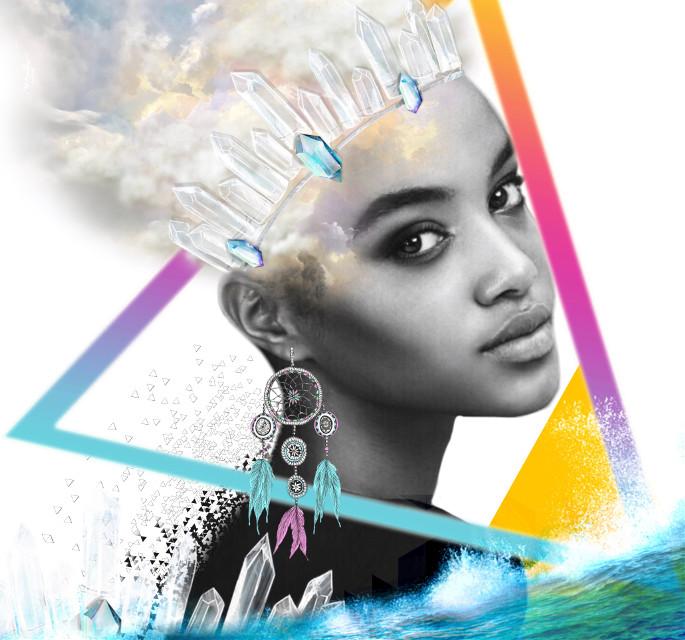 #freetoedit #cluods #dimond #portrait #triangle #dreamcatcher  #sea
