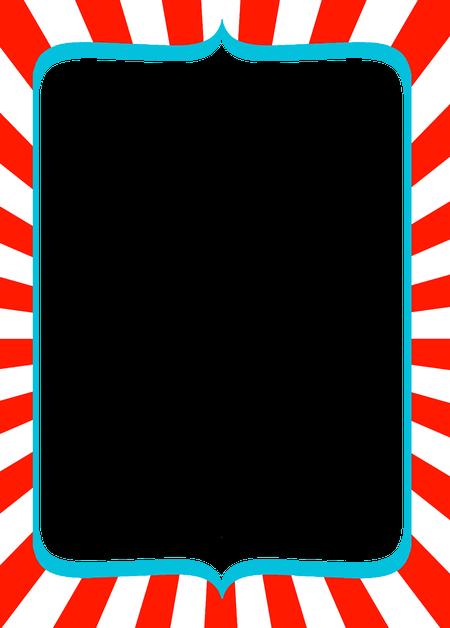 circus red stripes blue card frame framesticker borders...