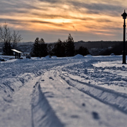 canada winter snow park quebec freetoedit