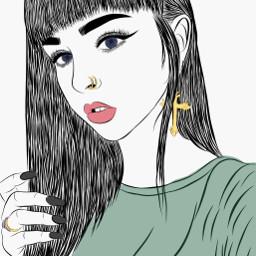 sketchremix freetoedit girl interesting art