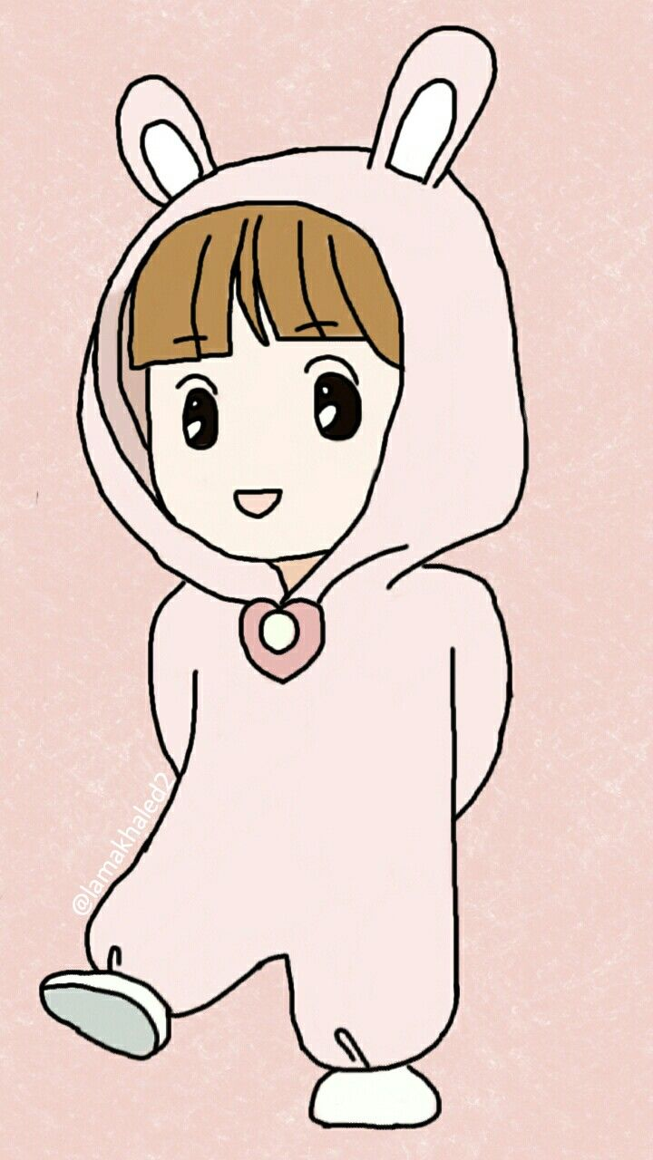 #mydraw #baby #girl #pink #anime #cute #lines #bunny #heart #draw #digitaldraw #picsart 🙂💝