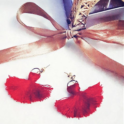 tassels fan earrings tassel