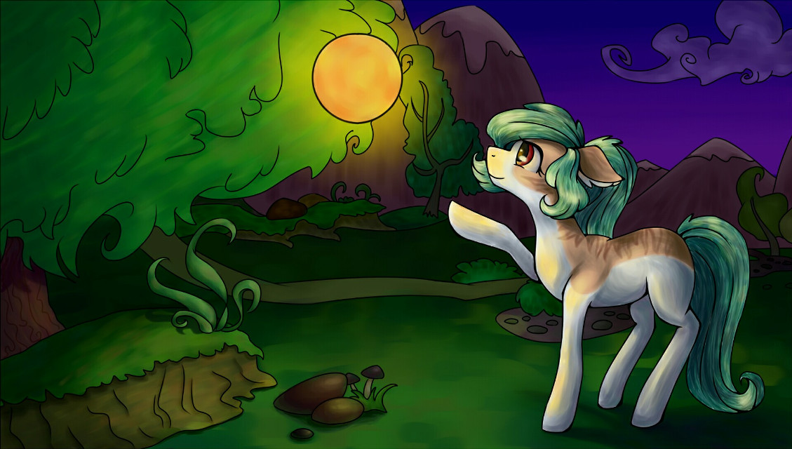 This art is a gift for my friend. I drew his OC pony and ball lightning. #dcmyimaginaryfriend #myimaginaryfriend #myart #artwork #pony #mlp #myart2018 #gift #balllightning